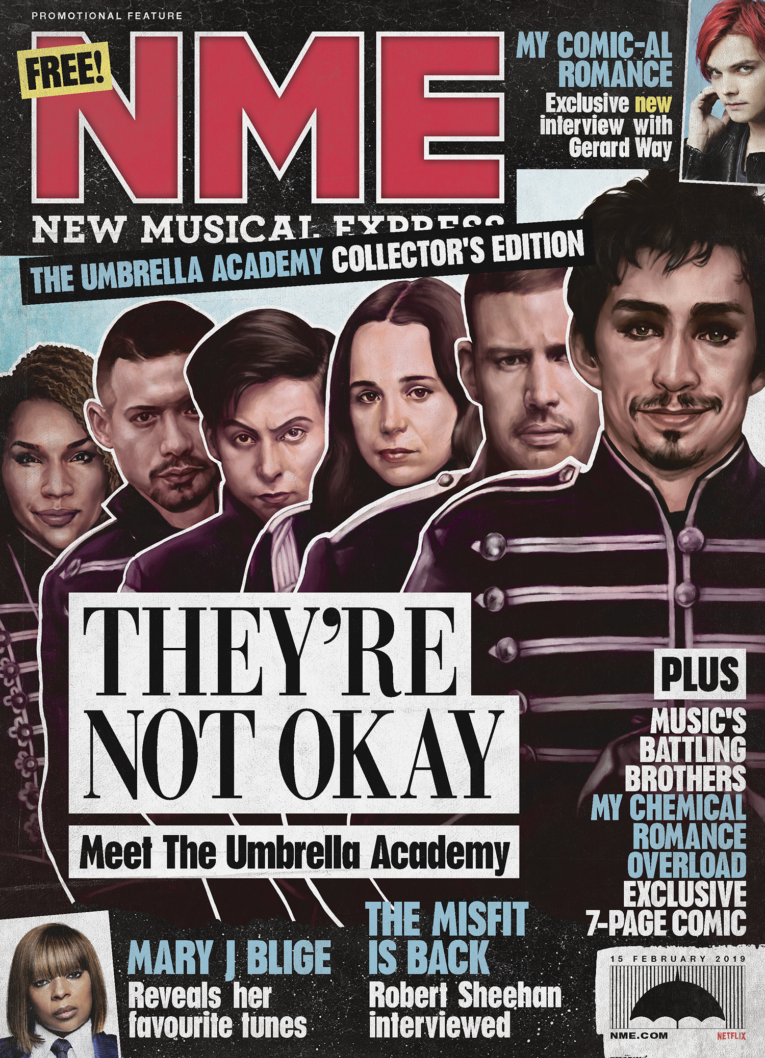 NME Umbrella Academy Special Edition Cover