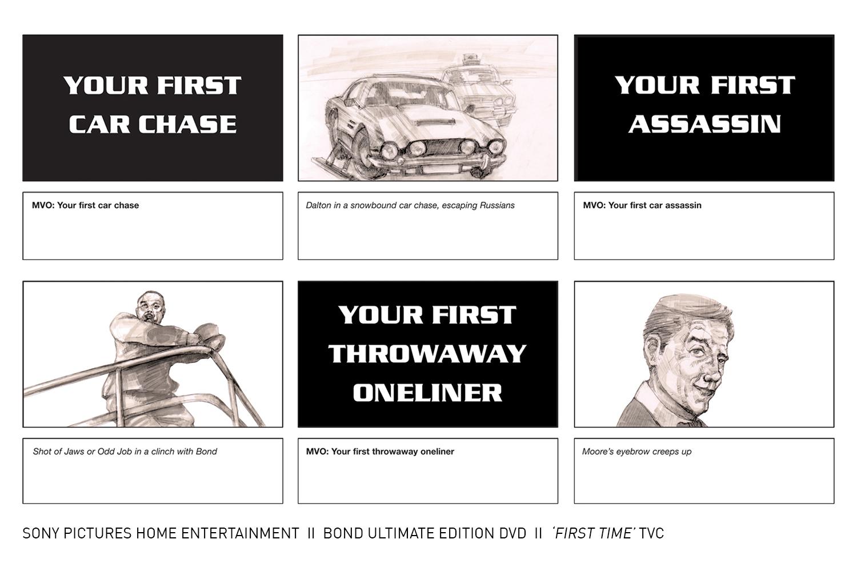 Ultimate Bond DVD storyboard