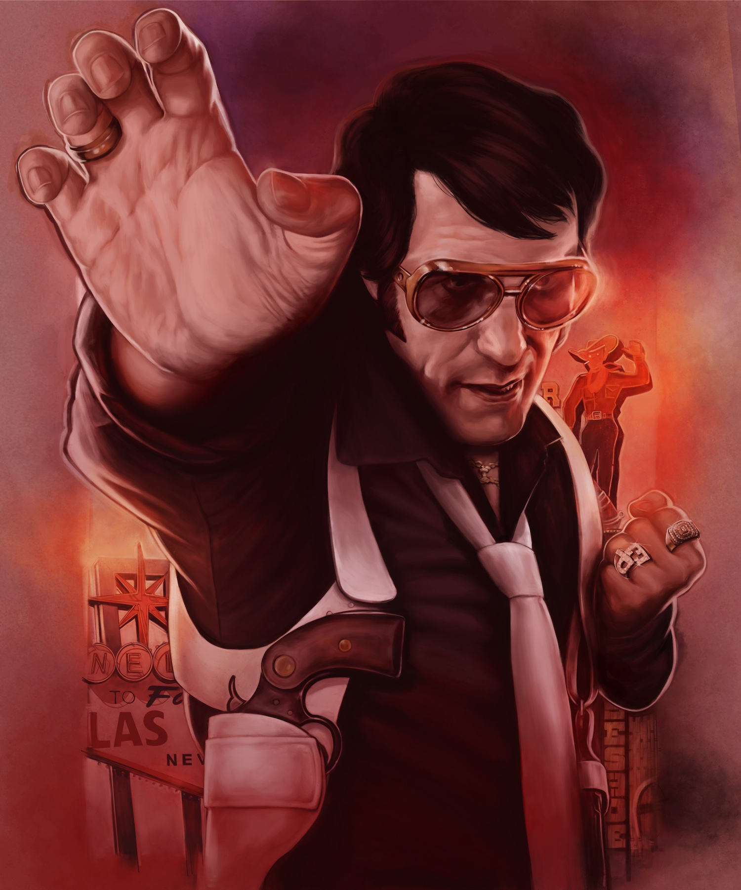 Promo poster artwork for and Elvis Kung Fu short