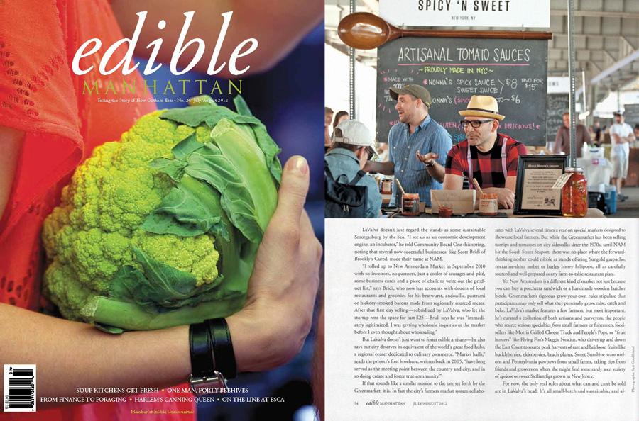 Edible Manhattan. July/Aug 2012. Photo by Sari Goodfriend.