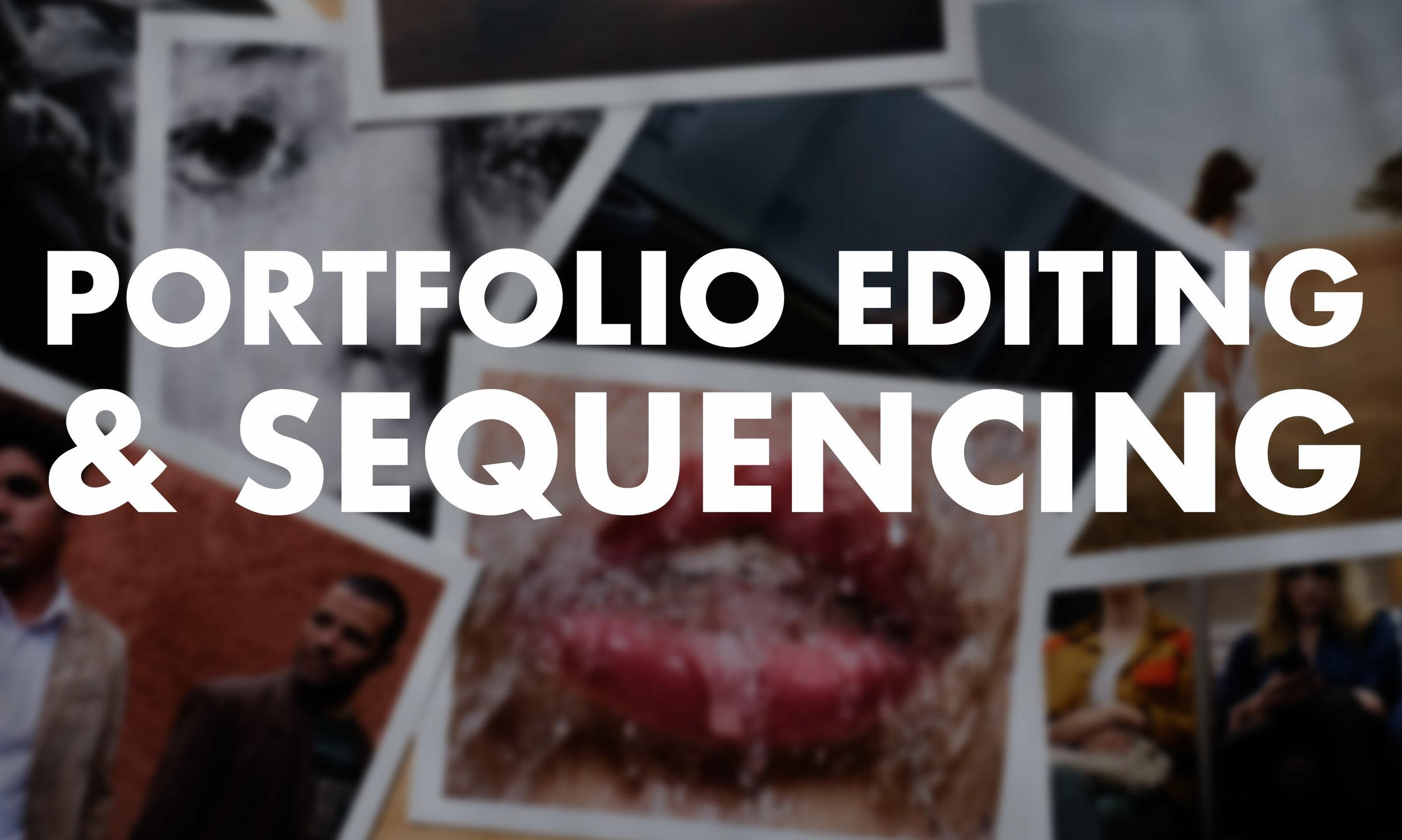 Portfolio Editing Workshop