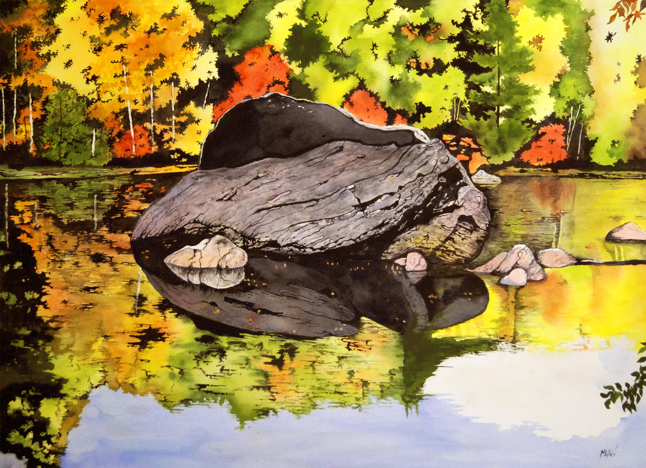 Mirrored Rock - Sold