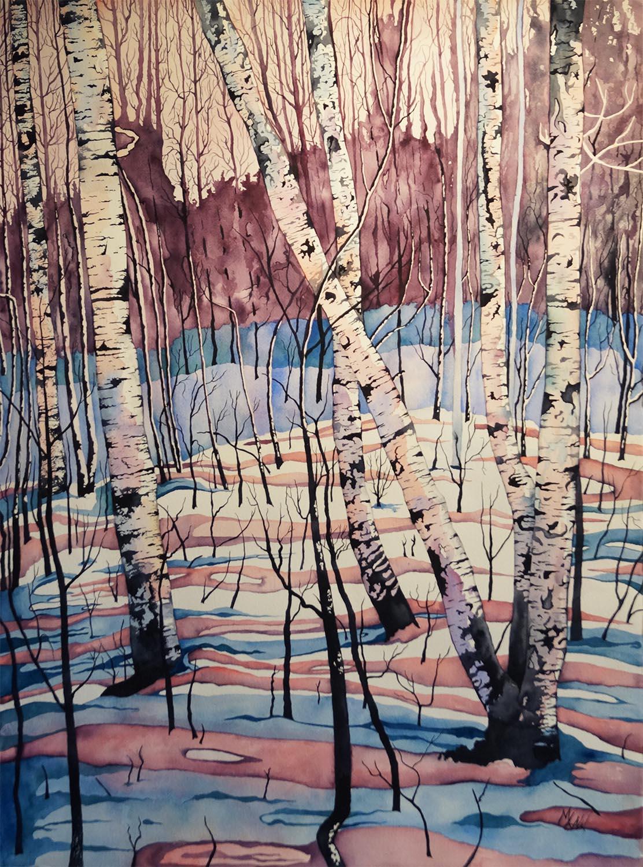 Snowy Birches - Sold