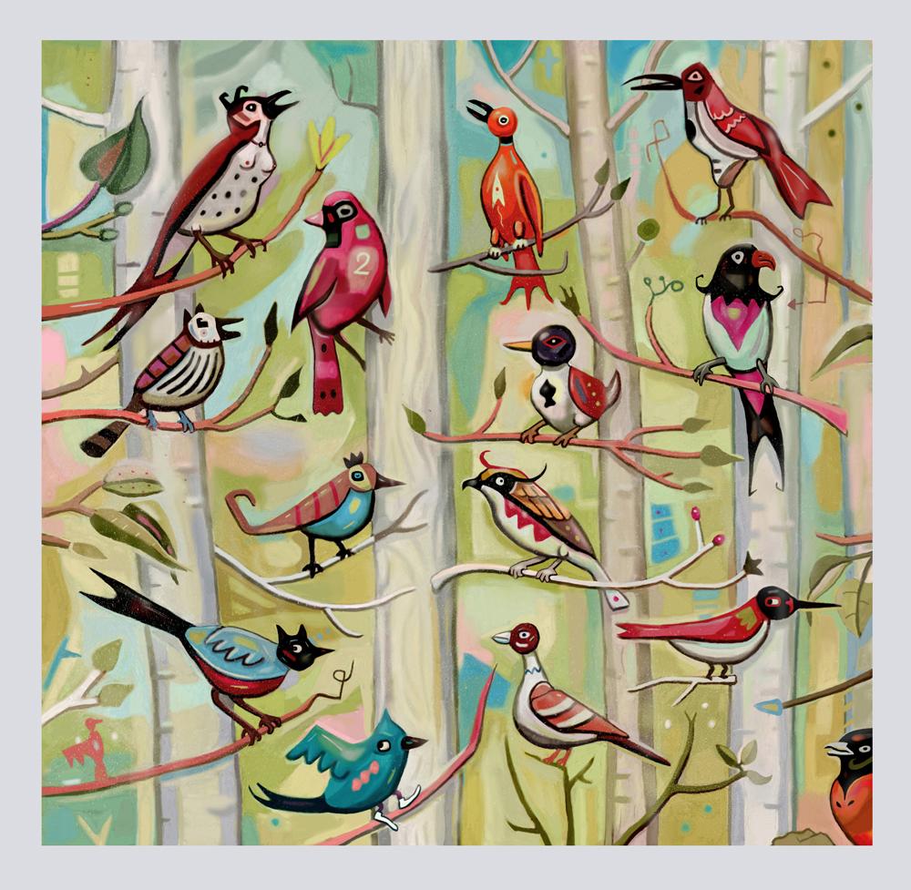 Birds of Haw Creek $1800 unframed / $2200 framed