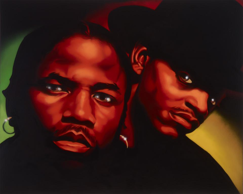 2 Dope Boyz – spray on canvas 4' x 5' - $2000 - sold