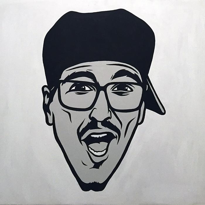 MC Serch – acrylic on panel 2'x2' - $400