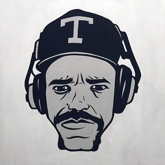 Ice T – acrylic on panel 2'x2' - $400