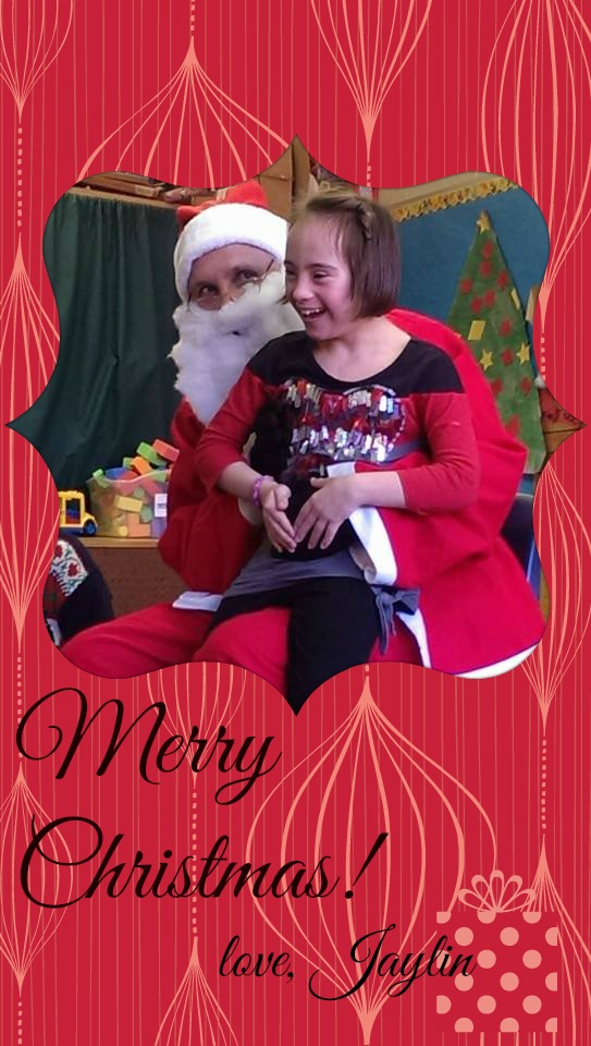 Jaylin and Santa!