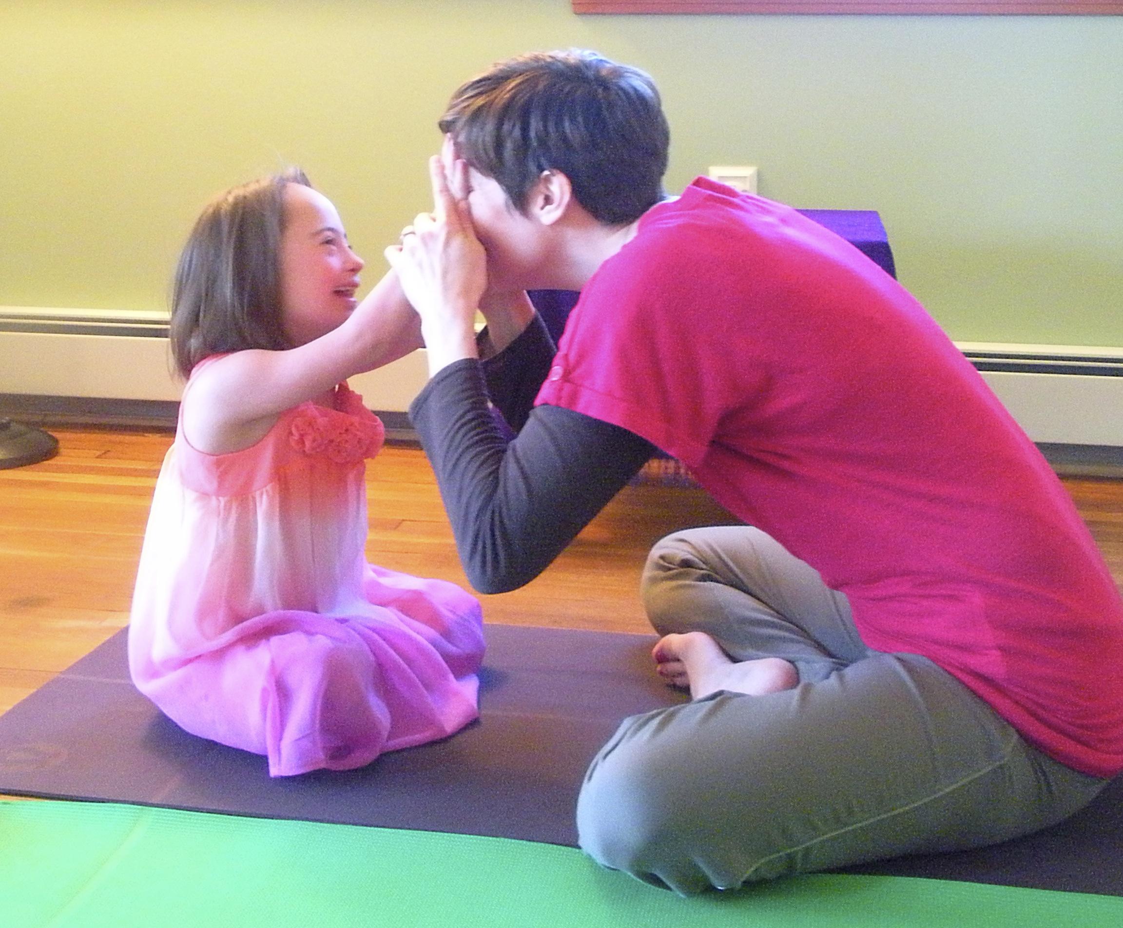 Jaylin & Gita share the yoga-love back in 2010