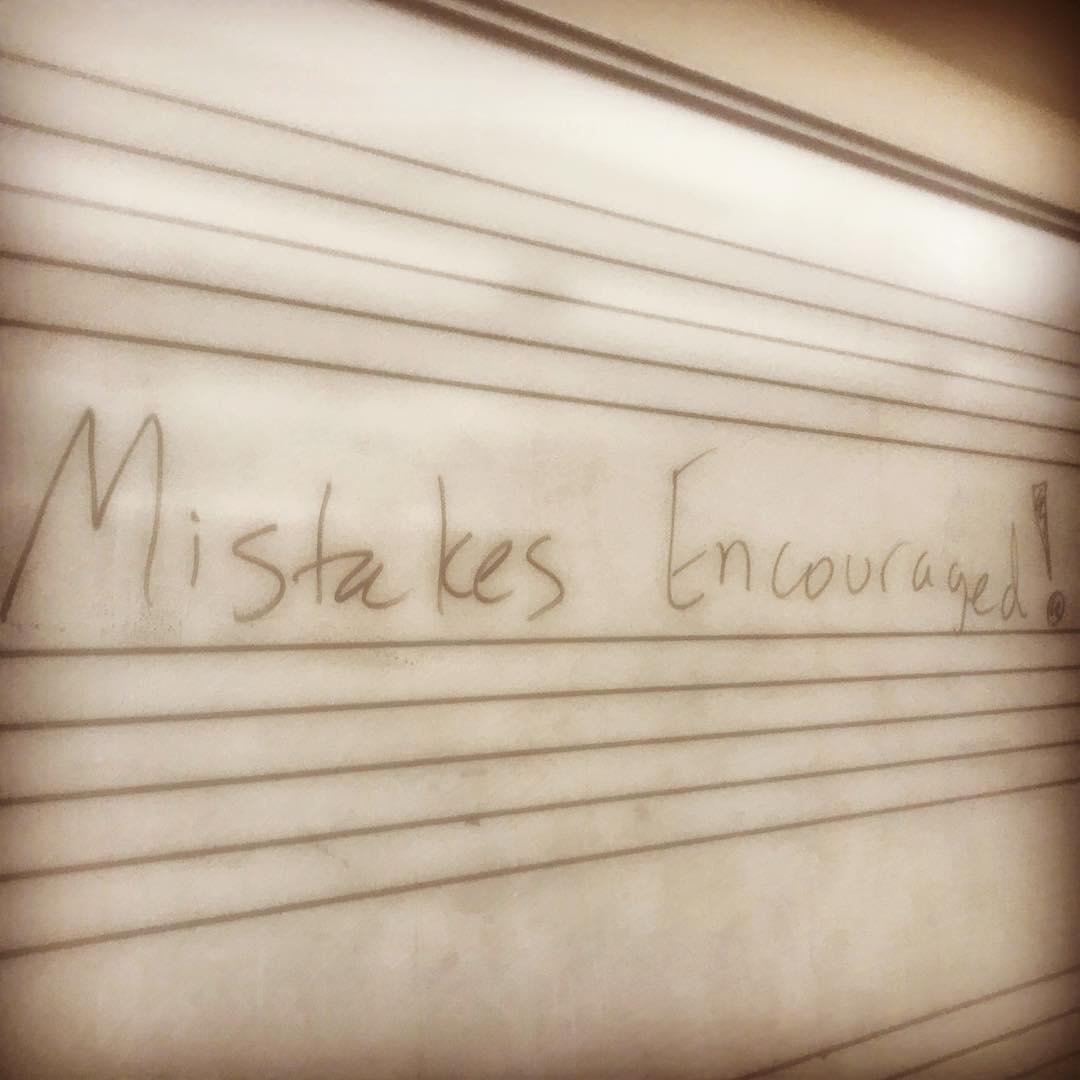 mistakes encouraged