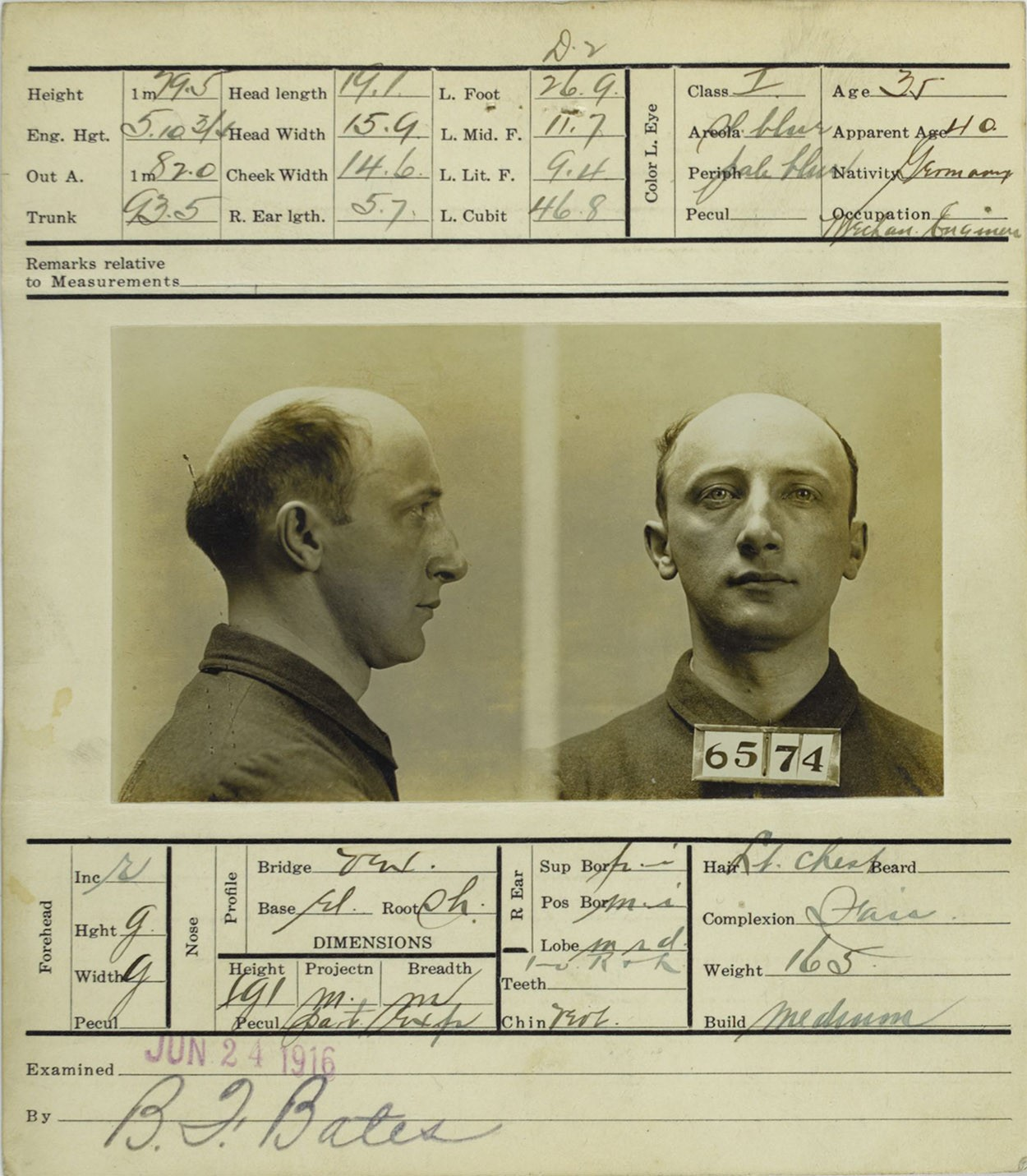 Arrest Record of Robert Fay