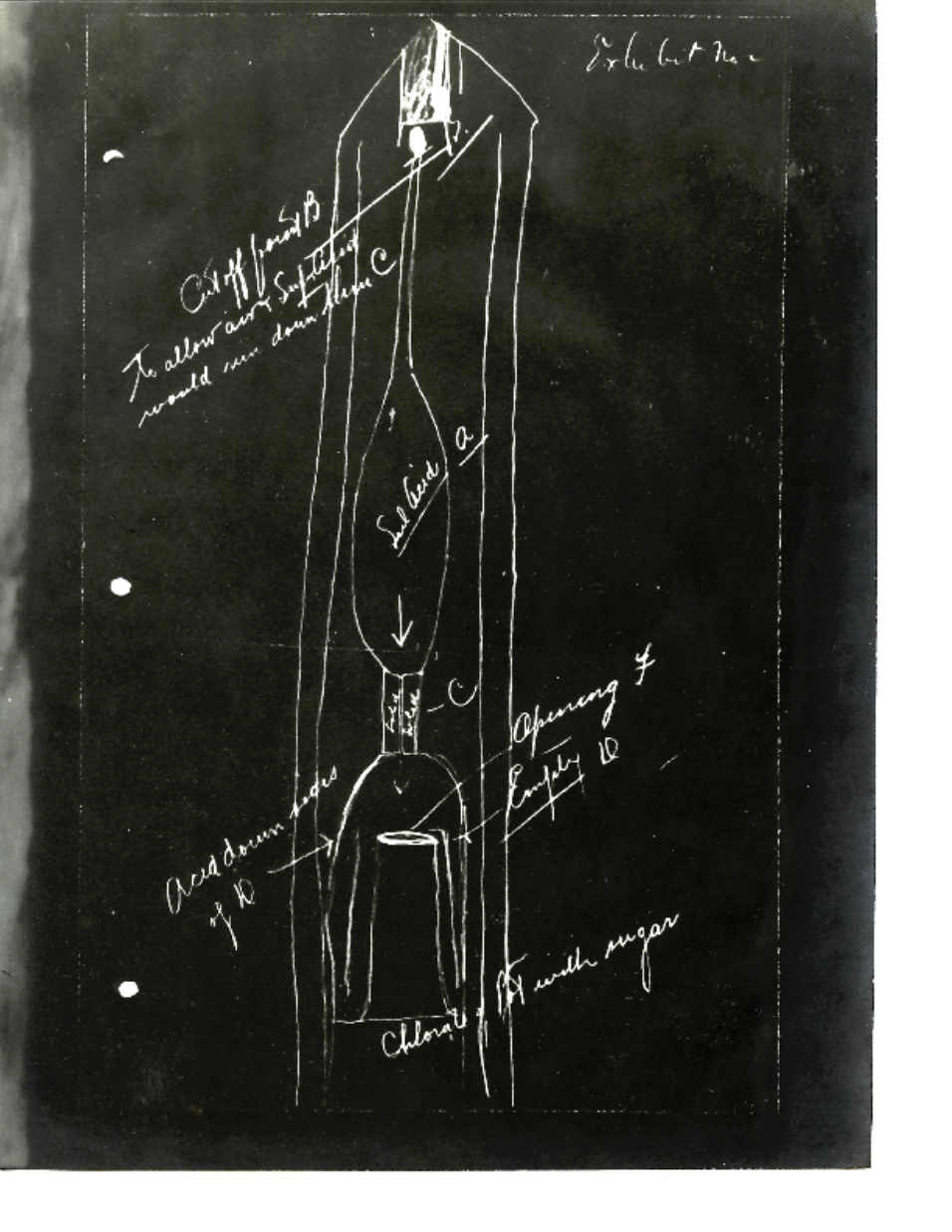 Drawing of a German Pencil Bomb, used to set fire to ships and factories.