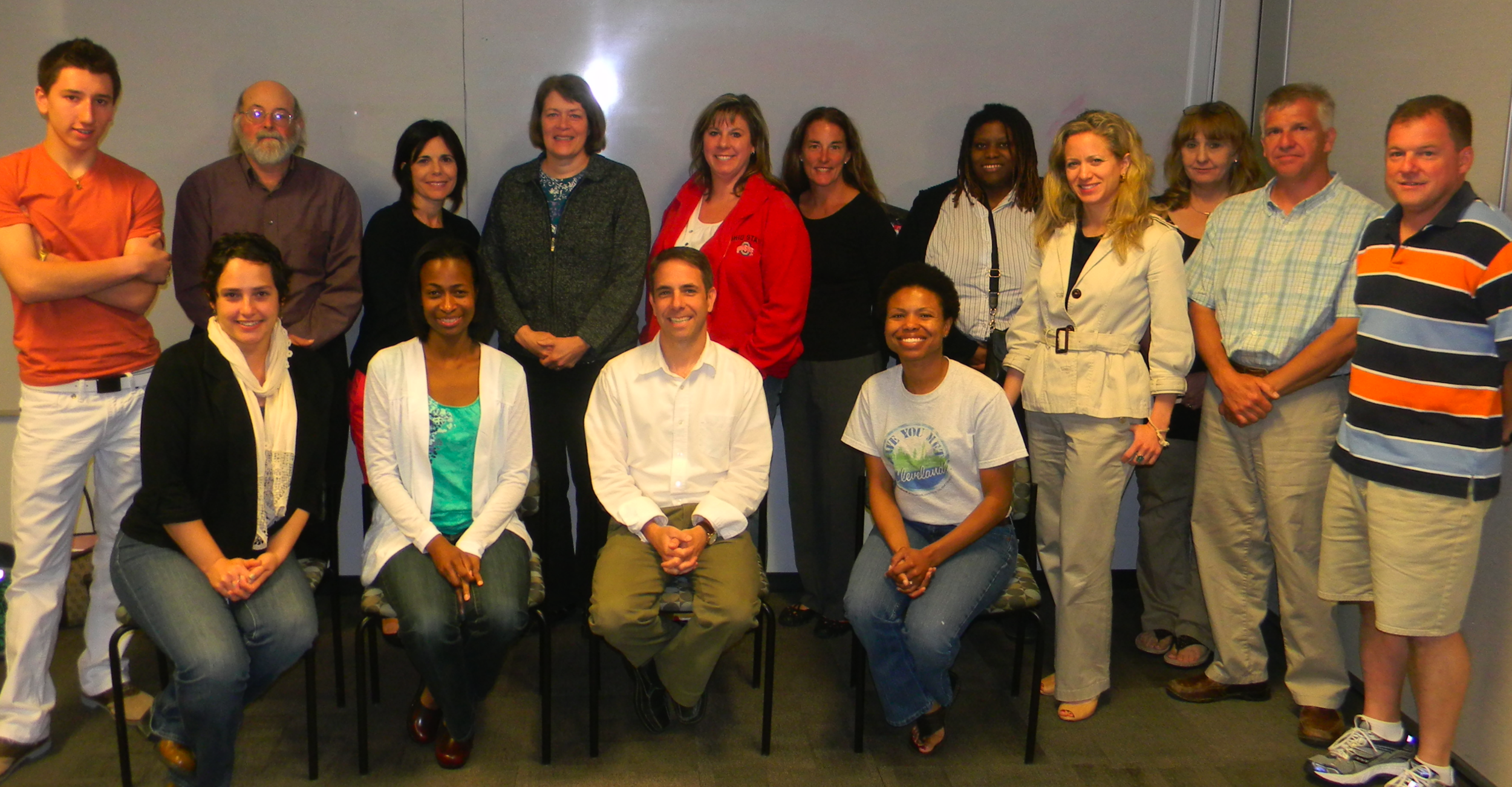 Members of the 2011-12 Teaching Cleveland Institute at WVIZ/PBS Ideastream.