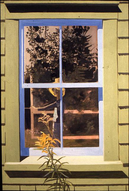 Self-Portrait in Green Window