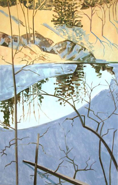 Blair Pond with Ice