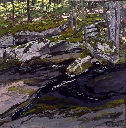 Study for Ledge on Black Brook