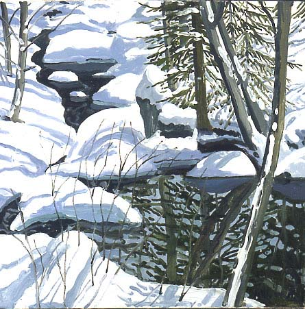 Study for Snow in Hope Brook