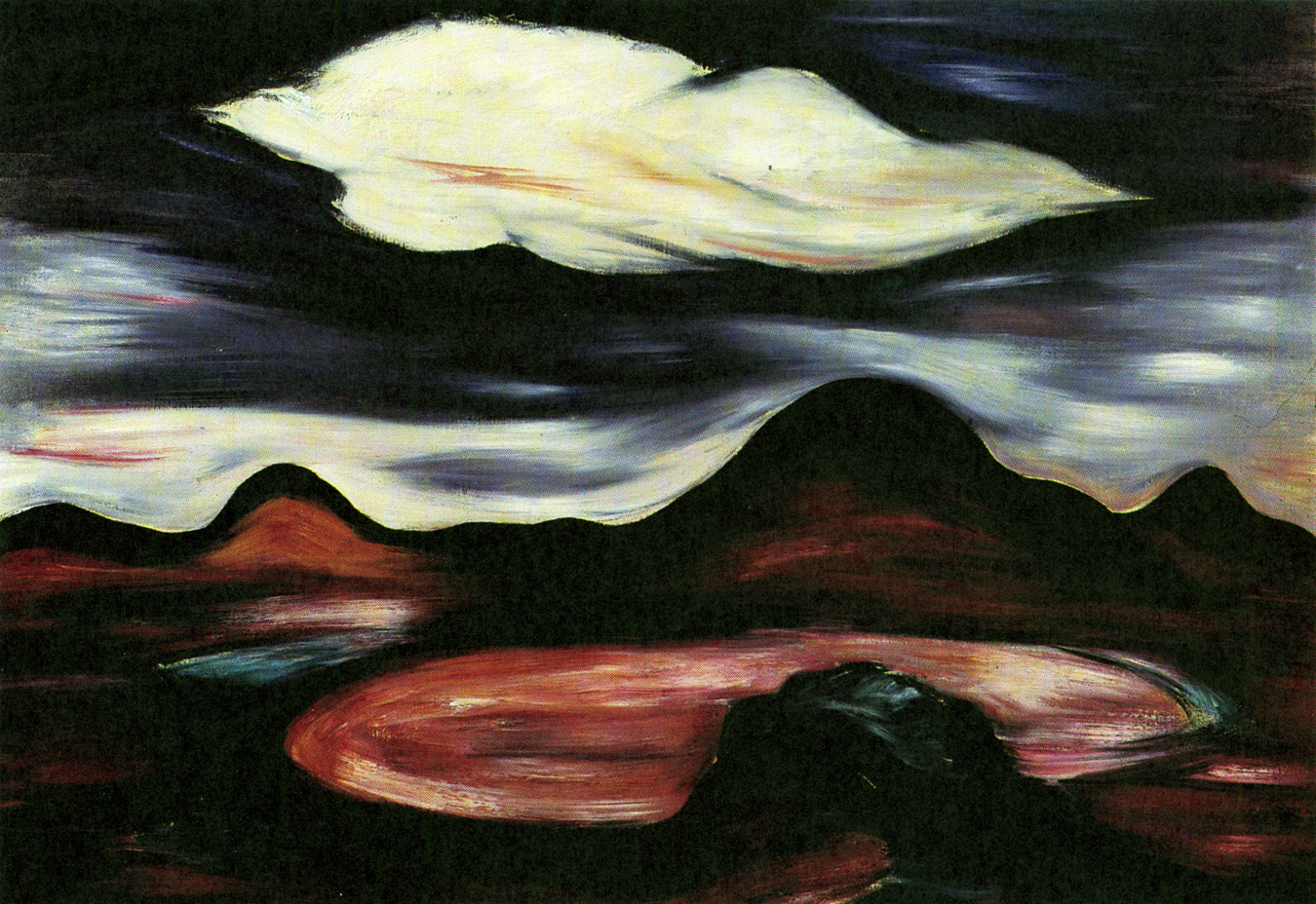 Landscape With Single Cloud