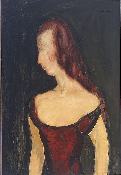 Girl in Red Dress II
