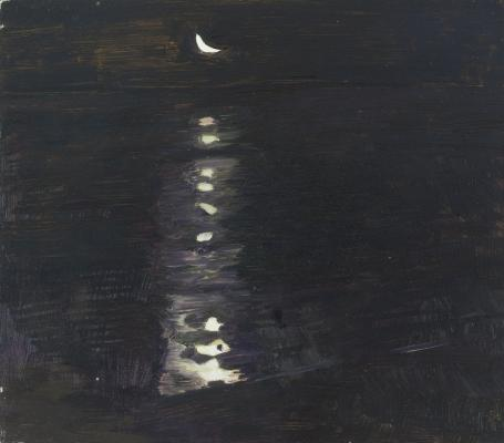 Moon Over Mudflat - 4 AM