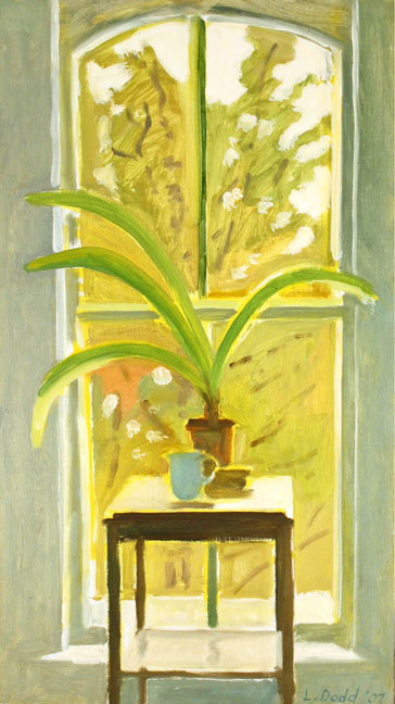 Window with Amaryllis Plant, Dec.