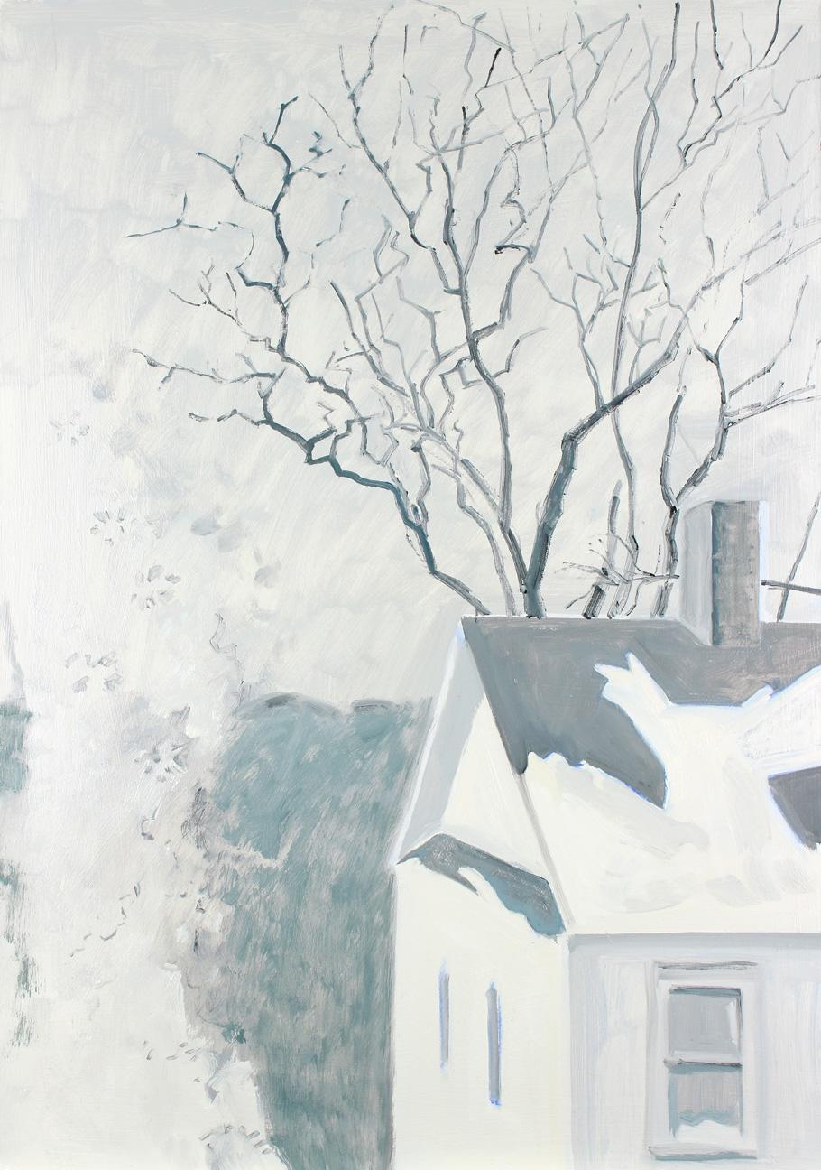 Roof, Tree, Window Frost + Snow