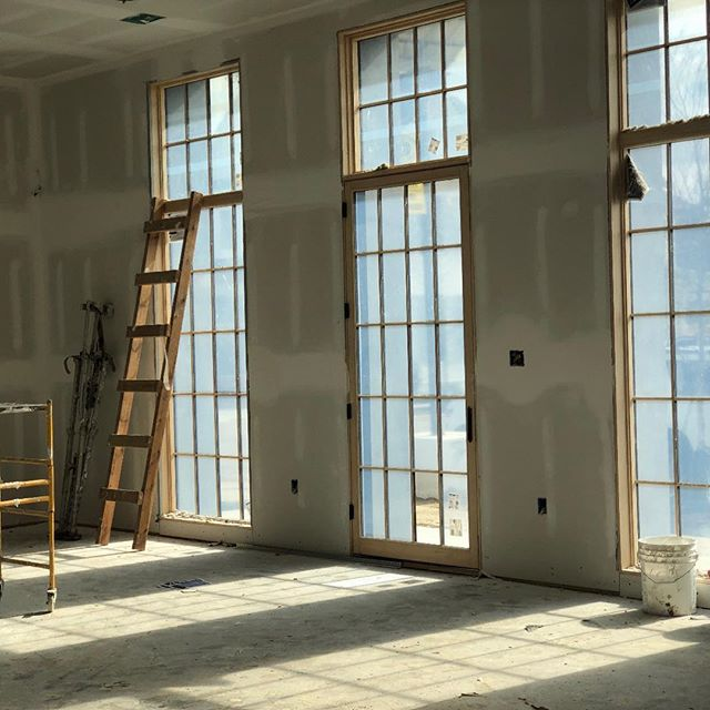 Getting ready for some cabinets and trim at the Rouzan project! Love the light coming through this room!  #cagleyconstruction #cagleycustomhomes #peckycypress #allinthedetails