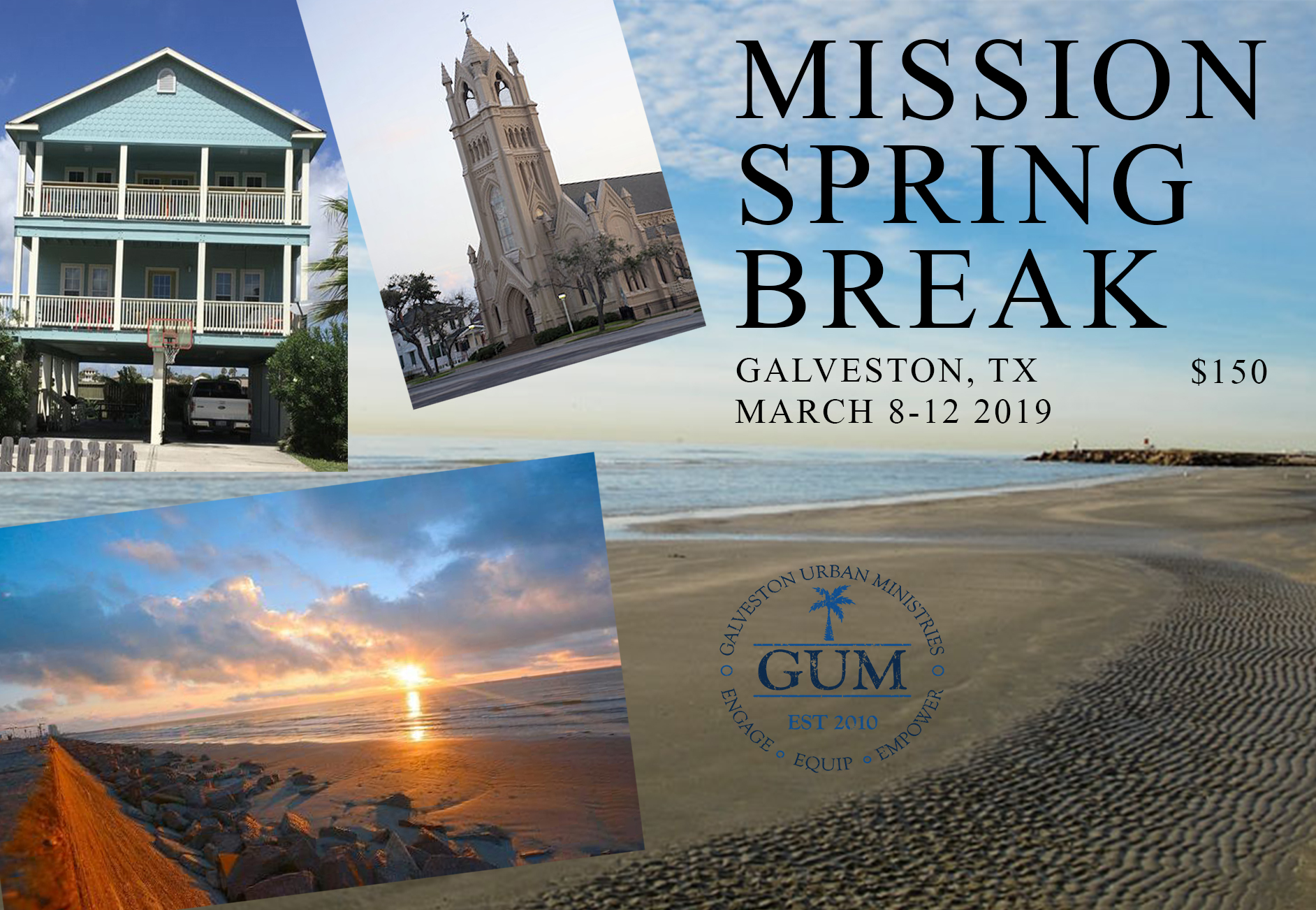 Mission Spring Break - Limited Spots Available – Only 25 teens and 5 AdultsTRANSPORTATION: CORE Adult Leaders personal vehiclesWe will meet at St Gabriel on Friday, March 8 at 5:30pm to load up and head out.Please eat before arriving or bring a dinner with you.We will leave Tuesday, March 12 at Noon. We should return to St Gabriel on Tuesday, March 12 at 6:00pm