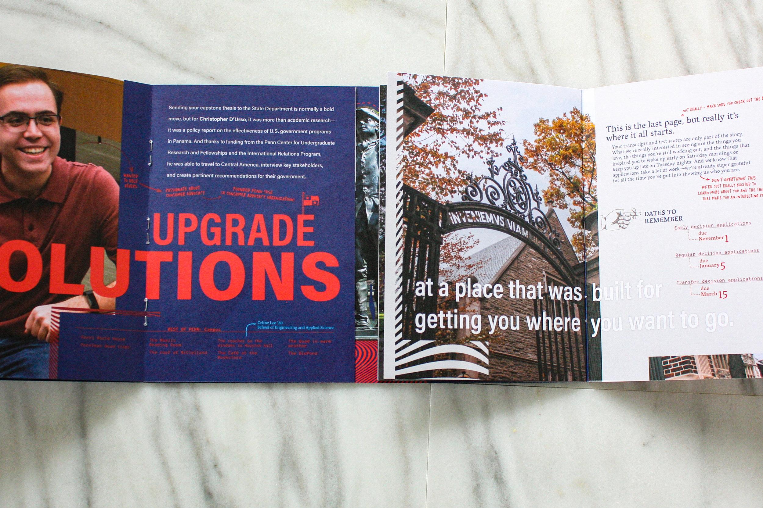 University of Pennsylvania - Admissions Suite - Travel Piece Spread