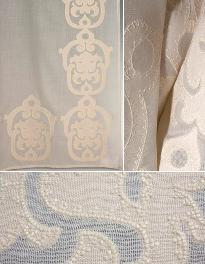 Details: Embroidery from Holland & Sherry | CLOTH & KIND