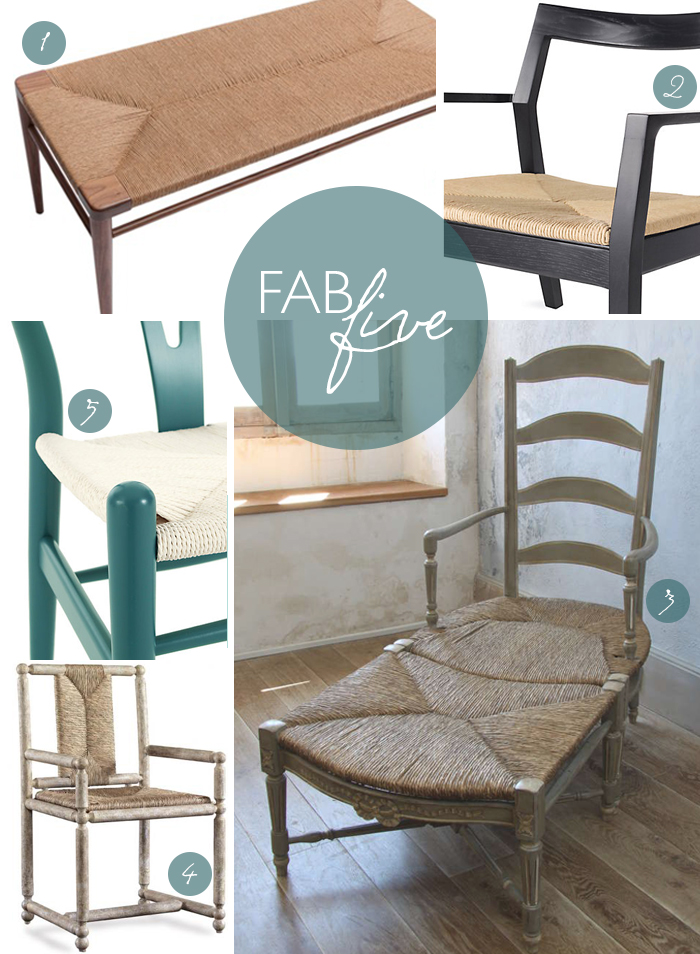 Fab Five: Rush Seating | CLOTH & KIND
