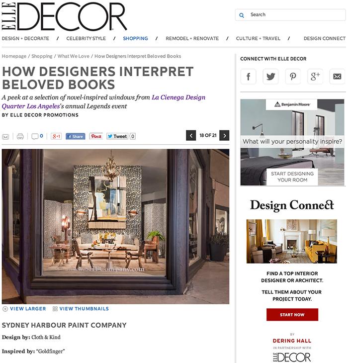 Press: Elle Decor LCDQ Legends | CLOTH & KIND