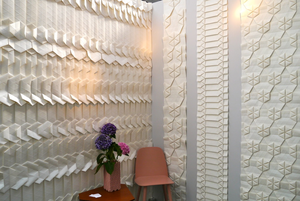 CLOTH & KIND // Tracey Tubb's Origami Wallpaper by Contributing Editor, Lynn Byrne