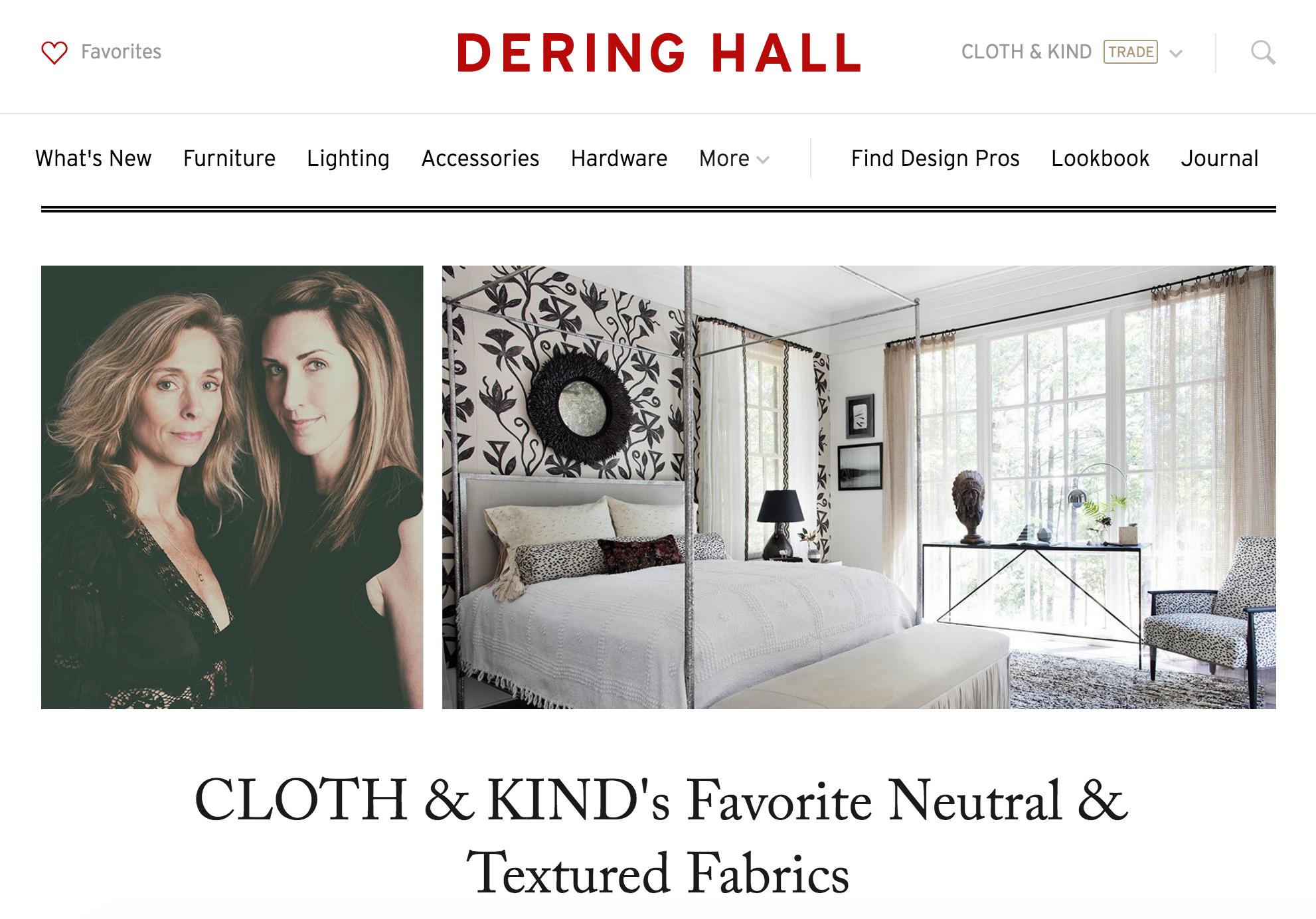 CLOTH & KIND // Dering Hall, April 2016