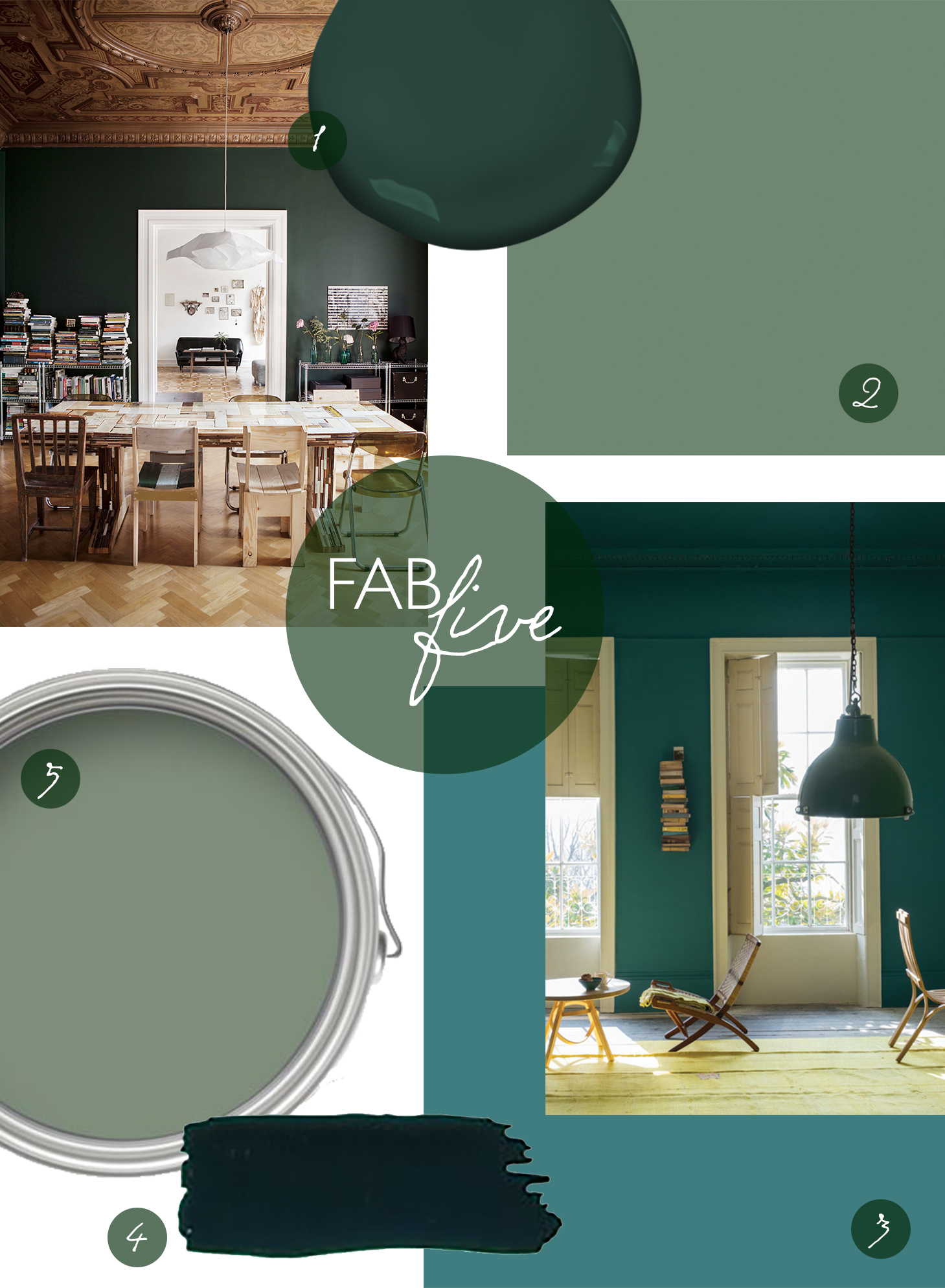 CLOTH & KIND Interiors // Fab Five Green Paint