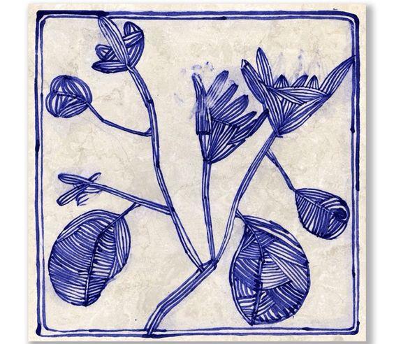 Pattern Inspiration // Ruan Hoffman ceramic tile