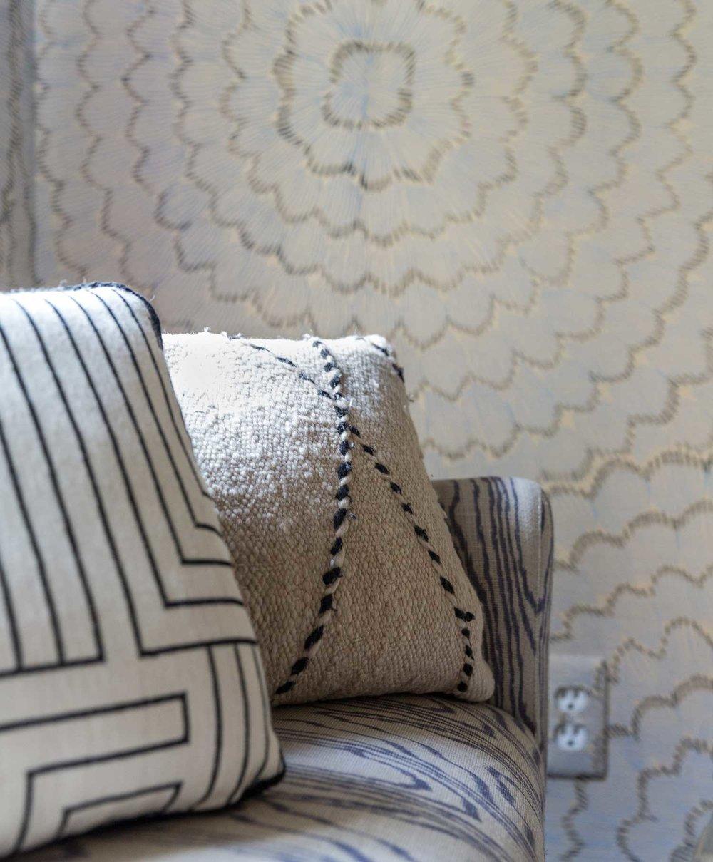 CLOTH & KIND :: Ann Arbor Hills Tudor, Hallway Pillow Detail.jpg