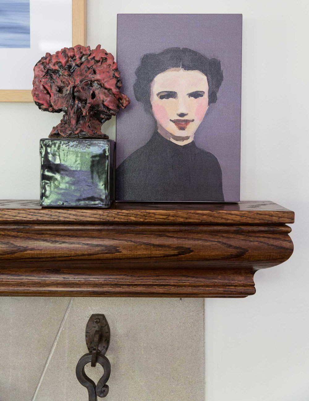 CLOTH & KIND :: Ann Arbor Hills Tudor, Living Room Mantle.jpg