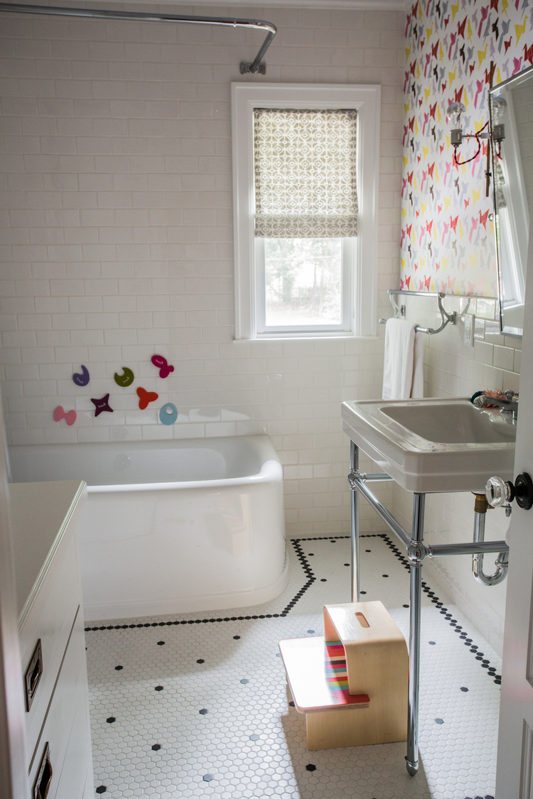 CLOTH & KIND :: Ann Arbor Hills English Cottage, Girl's Bathroom.jpg