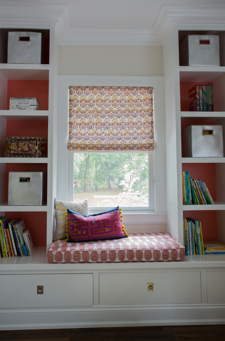 CLOTH & KIND :: Ann Arbor Hills English Cottage, Girl's Bedroom Shelves.jpg