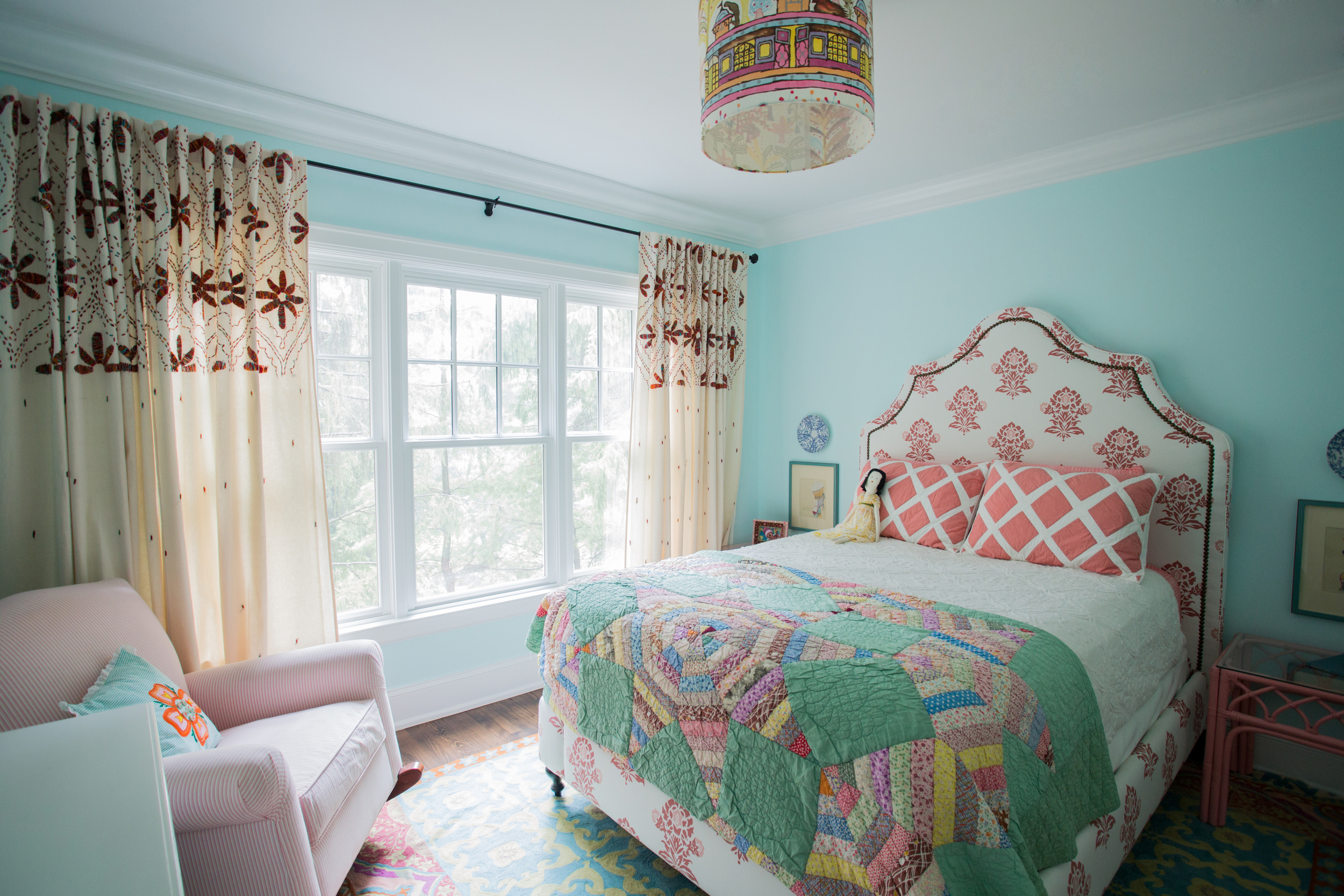 CLOTH & KIND :: Ann Arbor Hills English Cottage, Girl's Blue Bedroom.jpg