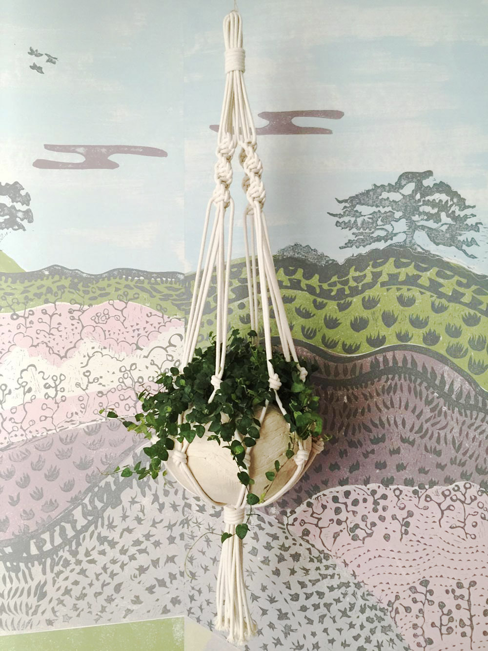 CLOTH & KIND :: Serenbe Showhouse Textile Lofts, Hanging Plant.jpg