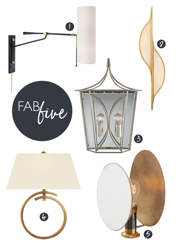 CLOTH & KIND // Fab Five, Wall Sconces