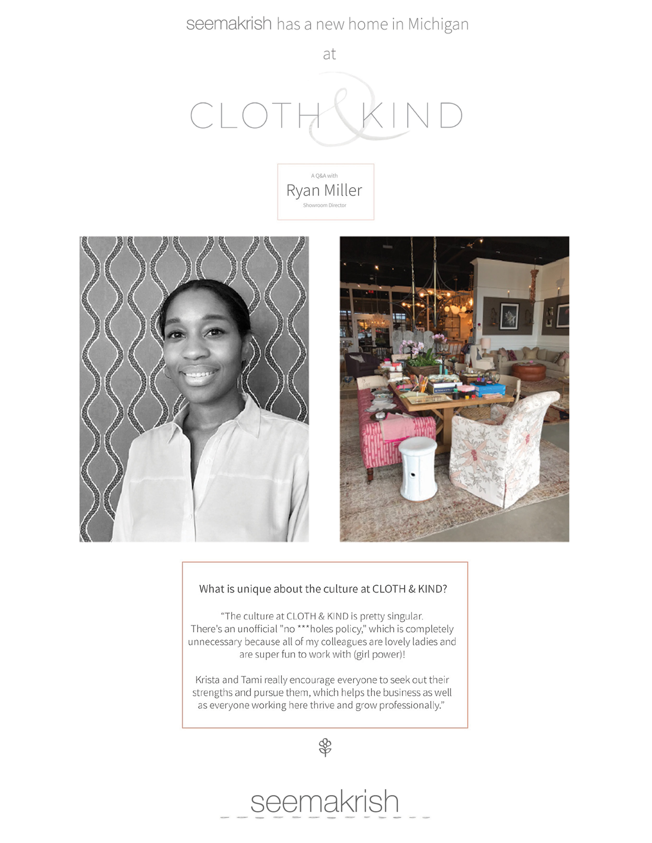 CLOTH & KIND // Press, Seema Krish