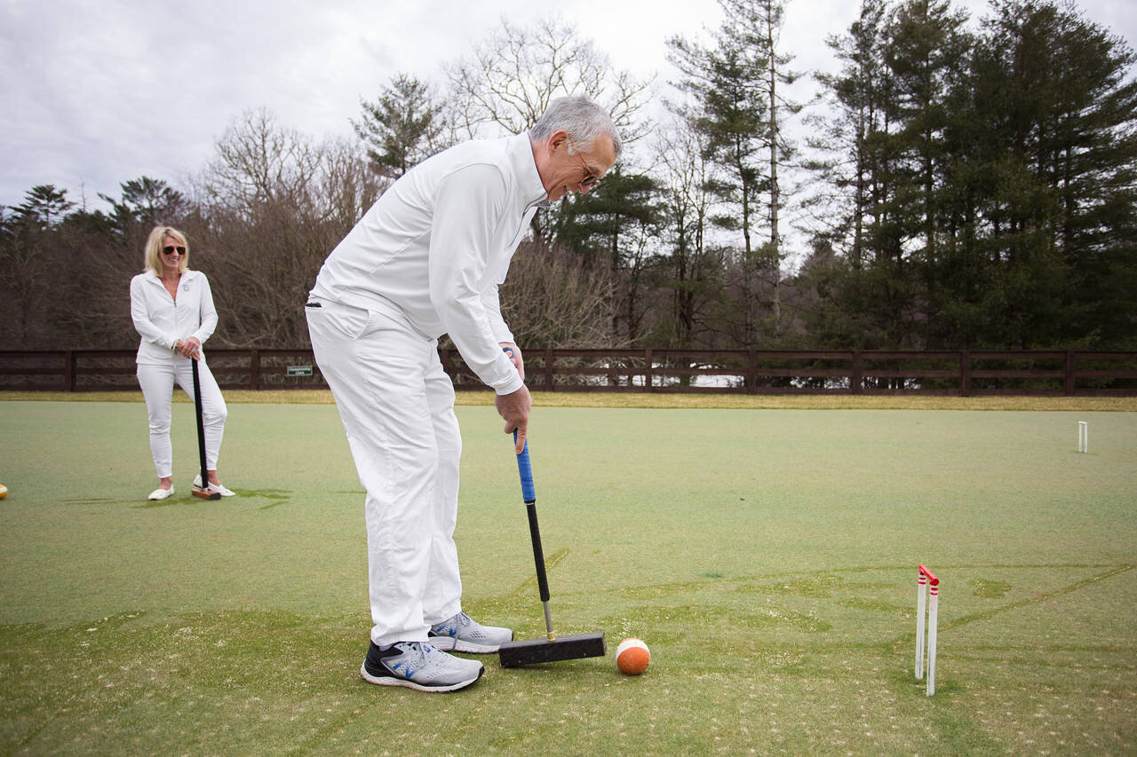 As croquet's popularity grows with retirees, luxury housing communities are adding courts, refreshment pavilions, and even pro instructors to their country clubs.    Wall Street Journal, March 21, 2019