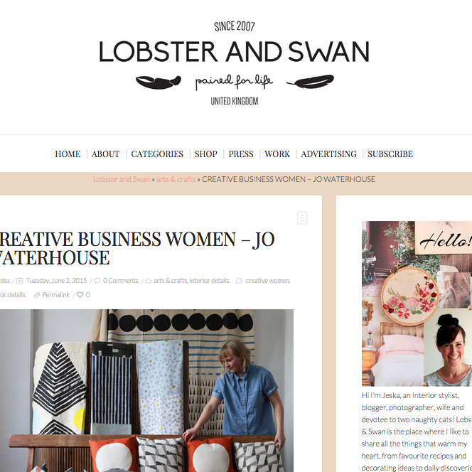 A lovely write-up on Lobster and Swan