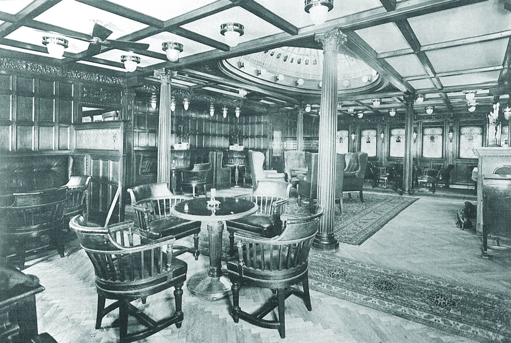 First class salon aboard the Kaiser Franz Josef I.
