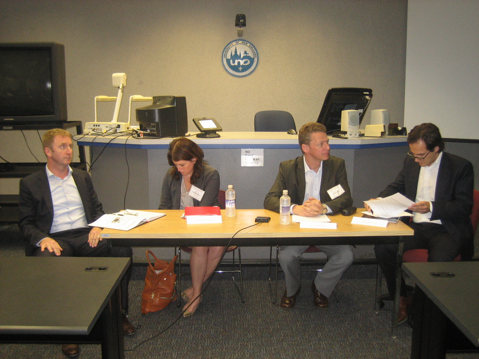 from left: Jodok Schaeffer; Aimee Quirck; Franz Roessler; Dominik Knoll, CEO, World Trade Center, New Orleans