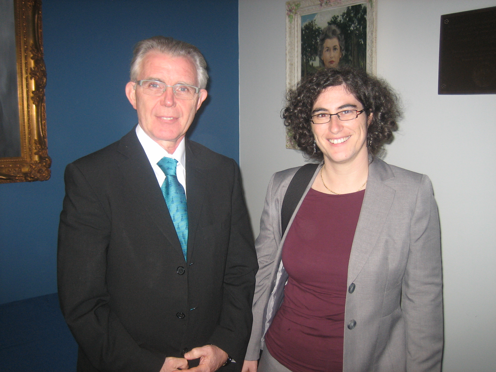 from left: Ronald Hall; Marion Wieser, University of Innsbruck