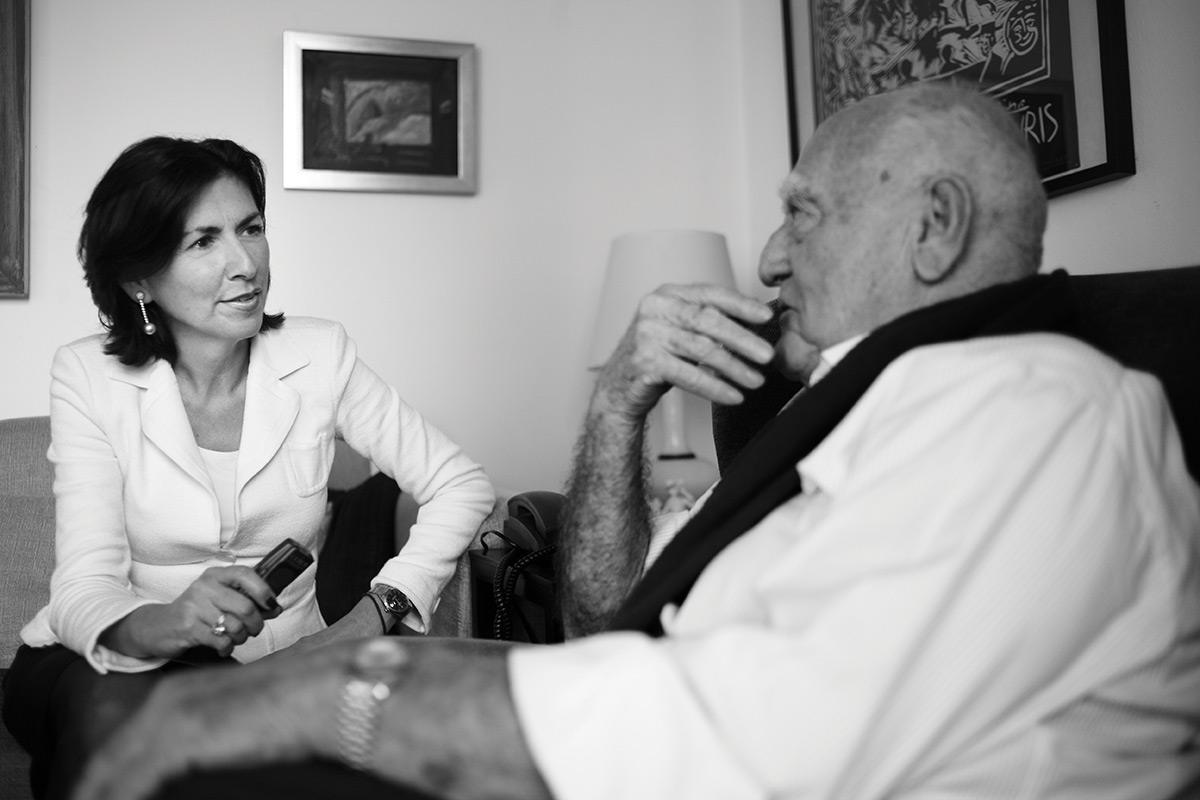 Danielle Spera  and Erich Lessing in 2015. Photo: Peter Rigaud